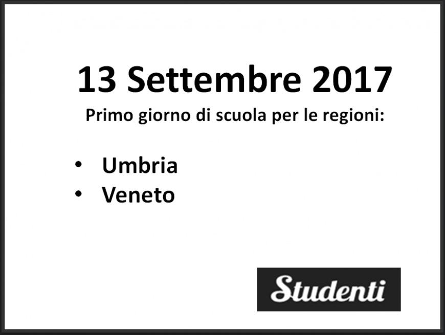 Inizio anno scolastico: le date del primo giorno di scuola a settembre 2017