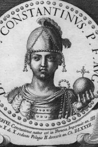 Imperatore romano Costantino I, 274-337 d.C.