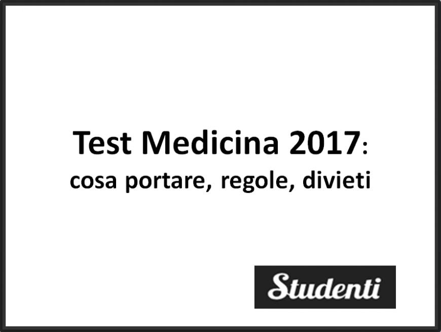 Test Medicina 2017: cosa portare, regole e divieti