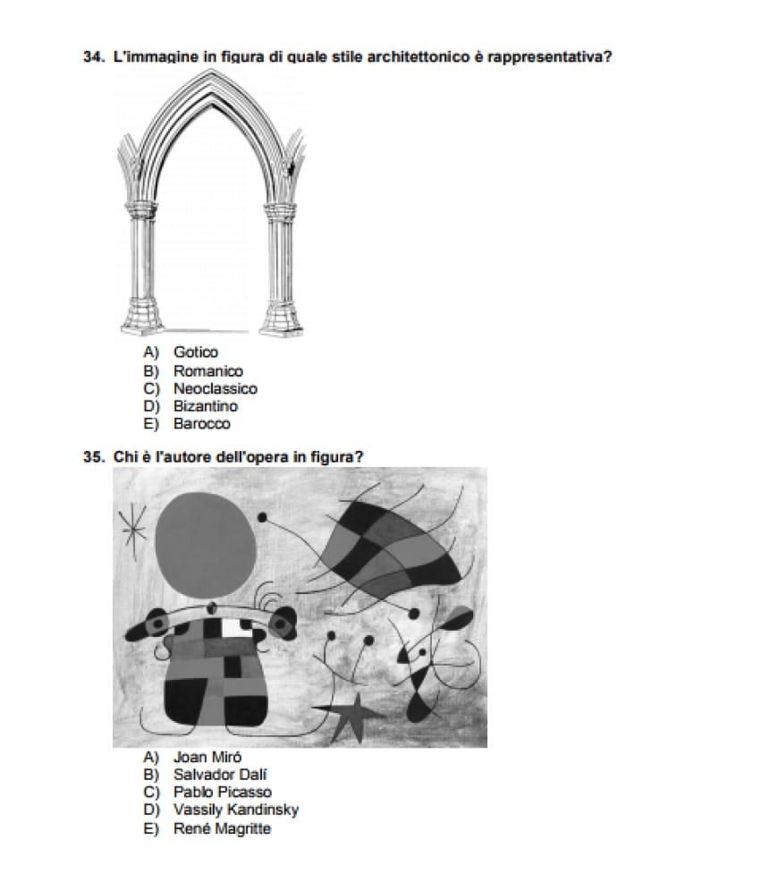 Test Architettura 2017: soluzioni domande di storia