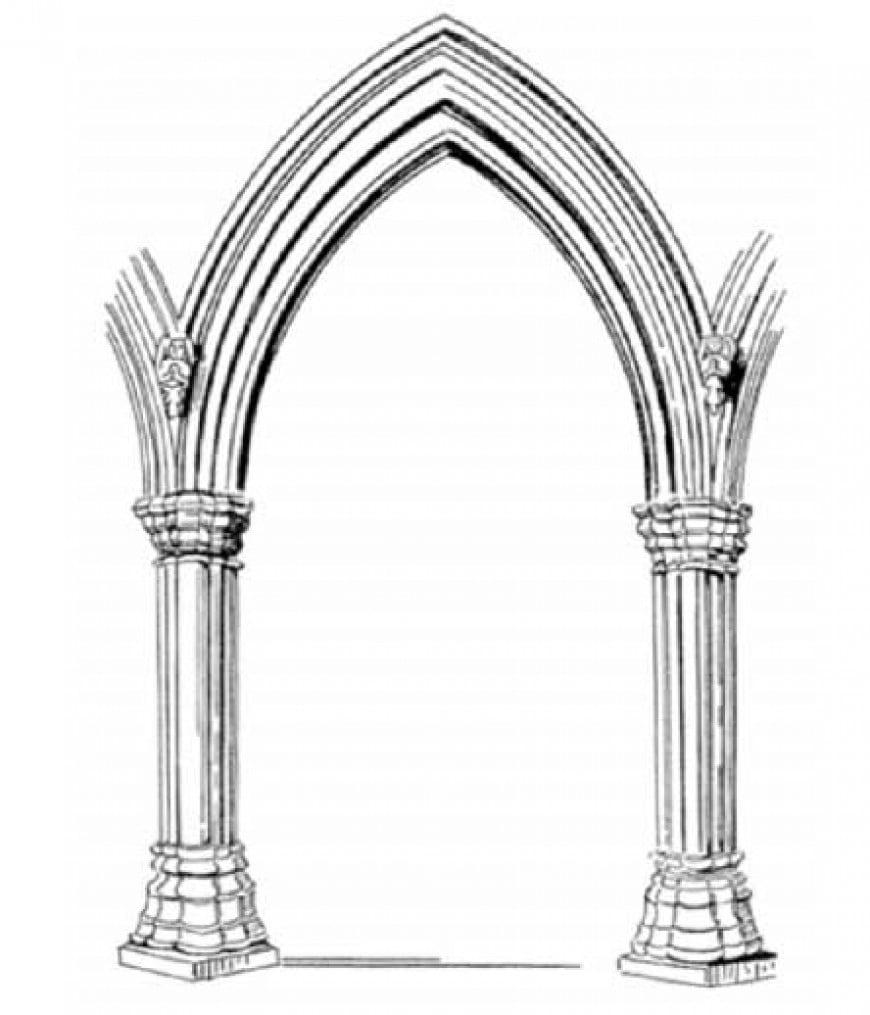 L'immagine in figura di quale stile architettonico è rappresentativa?