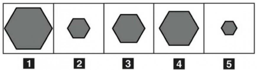 Disporre in ordine decrescente le cinque figure: