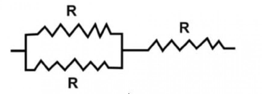 Ciascuna delle tre resistenze del circuito rappresentato in figura può dissipare una potenza massima W. Qual è la potenza massima che il circuito risultante può dissipare?