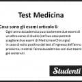 Esami articolo 6 per Medicina: istruzioni per l'uso