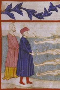 Nell'opera di Dante, Virgilio sarà al suo fianco lungo tutti i canti dell'Inferno e del Purgatorio.