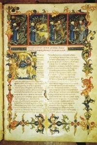 Il 1° canto dell'Inferno in un antico manoscritto