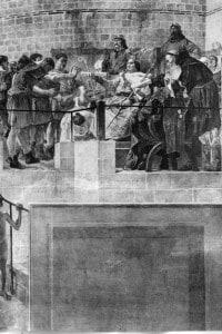 Re Luigi VI di Francia concede nel 1108 una carta che aiuta i mercanti a proteggere i loro interessi