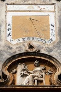 Bussola medievale del 1191 nella città di Sibiu, Romania