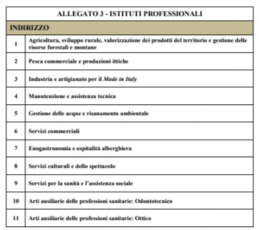 Iscrizione istituti professionali 2018-2019