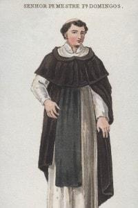 L'abito tipico di un frate domenicano
