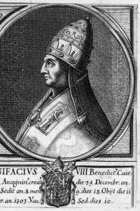 Benedetto Caetani diventato papa Bonifacio VIII dal 1294 al 1303