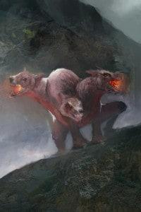 Cerbero, cane mitologico a tre teste