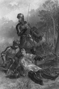 Raffigurazione della morte di Richard Neville, il duca di Warwick soprannominato The Kingmaker