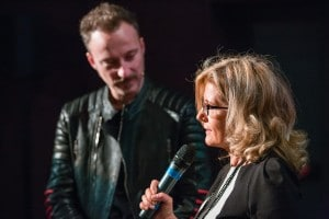 Francesco Facchinetti e Roberta Cocco sul palco di For Girls in Science