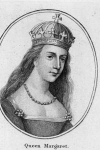Circa 1445, Margaret of Anjou (1429 - 1482), regina di Inghilterra e moglie di Enrico VI