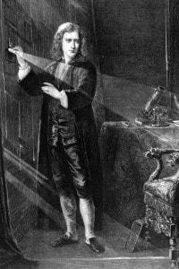 Sir Isaac Newton (1642 - 1727), scienziato e matematico inglese
