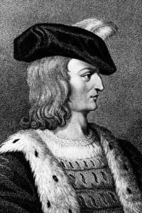 Carlo VII (1403 - 1461) in una immagine del 1420. E' stato re di Francia dal 1422.