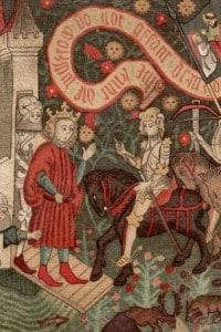 Giovanna D'Arco a Chinon nel 1429, dove chiede a Carlo VII di poter guidare l'esercito contro gli inglesi