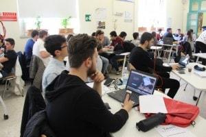 I ragazzi al lavoro in Fondazione Mondo Digitale per il progetto di alternanza scuola-lavoro con Cisco