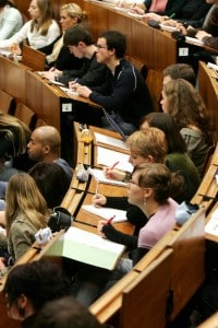 Un'aula all'interno dell'università tedesca di Goettingen. Ancora oggi l'ateneo è fra i più prestigiosi in ambito scientifico.