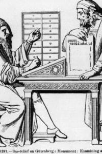 Gutenberg esamina una matrice