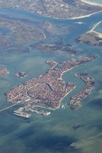 La laguna di Venezia vista dall'alto