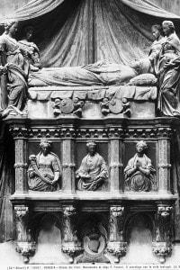 Il monumento al doge Francesco Foscari. Realizzato da Antonio e Paolo Bregno