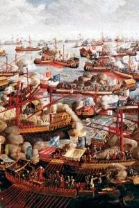 Battaglia di Lepanto, dipinto anonimo del 1586