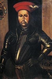 Il condottiero Braccio da Montone, signore di Perugia