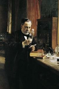 Louis Pasteur in un dipinto di Albert Edelfelt