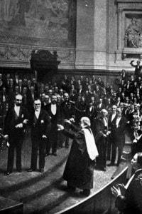 Louis Pasteur riceve un riconoscimento dalla Sorbona