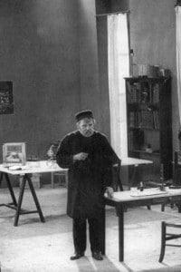 Pasteur fotografato nel laboratorio dell'Ecole Normale di Parigi
