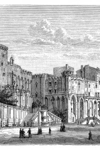 Illustrazione del palazzo dei papi di Avignone