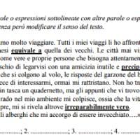 Esempio della traccia di comprensione del testo per l'esame di terza media
