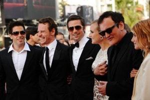 Il cast di Bastardi senza Gloria alla première del festival di Cannes del 2009