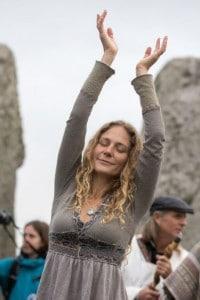Celebrazioni dell'equinozio d'autunno a Stonehenge nel 2017