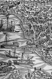 Un'immagine di Costantinopoli (odierna Istanbul) nel 1500