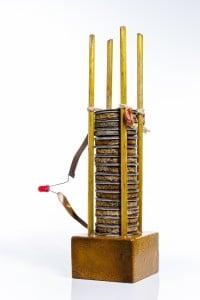 Ricostruzione della prima pila inventata da Alessandro Volta
