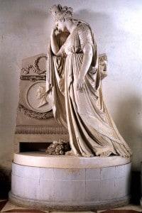 Il modello in gesso realizzato dallo scultore Antonio Canova nel 1806 simboleggia il monumento dell'Italia dedicato a Vittorio Alfieri.