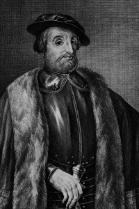 Un ritratto di Hernan Cortés