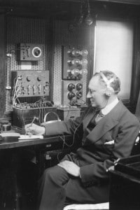 Guglielmo Marconi sullo yacht Electra