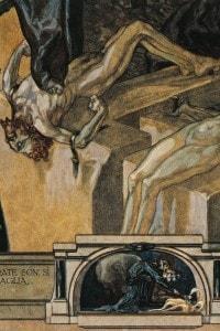 Illustrazione del 1900 del canto XXII