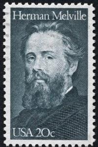 Francobollo che ritrae Herman Melville