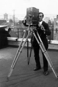 Il cinetoscopio, precursore del proiettore cinematografico