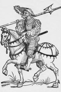 1532, lanzichenecco a cavallo