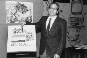 Il maestro Alberto manzi in TV negli anni '60
