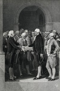 George Washington: giuramento durante l'insediamento da primo presidente degli Stati Uniti