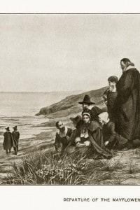 I padri pellegrini e la partenza del Mayflower