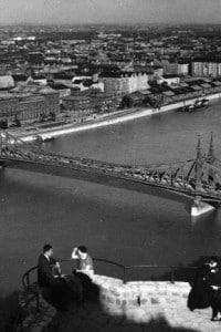 Il Franz Joseph Bridge a Budapest nel 1930