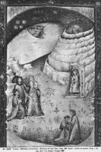 Dante e Virgilio incontrano Casella nell'antipurgatorio, angelo posto a custodia della Porta del Purgatorio